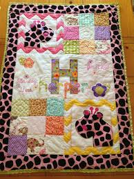 69 best Sewing - Panels images on Pinterest | Baby quilts, Baby ... & Baby girl or boy quilt - Fun Animals Adamdwight.com