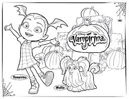 Vampirina Coloring Pages Free Printable For Kids Get Coloring Page