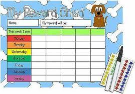 Childrens Re Usable Behaviour Reward Chart Stickers Pen