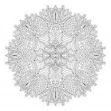 丸型模様の大人の塗り絵本ページ ベクター画像 プレミアムダウンロード