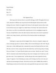 crash argument essay nayab khattak the american dream following  3 pages film argument essay