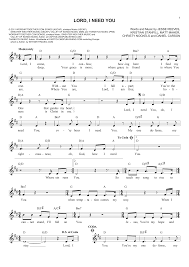 lord i need you sheet music lord i need you sheet music direct