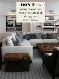 how not to style a sectional sofa
