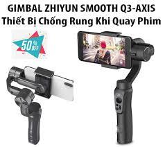 siêu sale ] thiết bị chống rung khi quay phim. gimbal zhiyun smooth q  3-axis stabilization , mua ngay cây tay cầm chống rung 3 trục dành cho máy  ảnh, điện