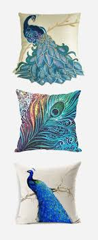 Accessories: Multiple Cushions Peacock Blue - Accessories