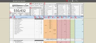 Renovation Spreadsheet Perfect Bid Tabulation Template Printable ...