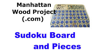 Sudoku Wooden Board Game Instructions 100 Sudoku Game Manhattan Wood Project YouTube 90