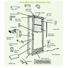 exterior door parts. spare parts diagram - panorama door exterior r