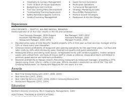 Caterer Resume Catering Manager Resume Arzamas