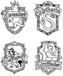 Small Picture Harry Potter House Crest Coloring Page Classroom Pinterest