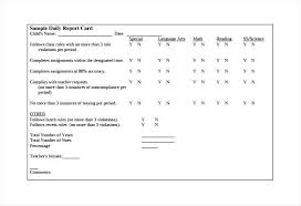 Printable Progress Reports For Elementary Students Daily School Report Template Work Progress Reports Student