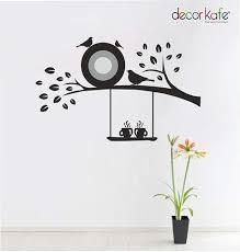 multiple decor kafe 3d art custom vinyl wall sticker flying birds tree branch wall decal for