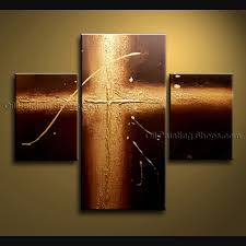 handmade elegant modern abstract painting wall art holly cross on canvas