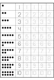 Kindergarten Tracing Numbers 1 10 Worksheets   Activity Shelter ...