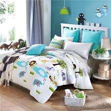 african print bedding light blue green and yellow forest animal print safari themed cotton twin full african print bedding