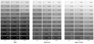 50 Shades Of Gray Color Chart Designing Systematic Colors Ux Planet