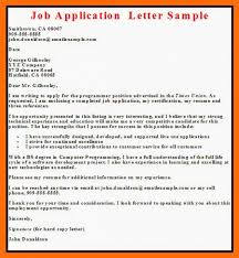 Download Free Business Letter Examples Job Application Letter Www