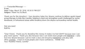 for donation thank you letters