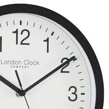 lcc classic black wall clock close
