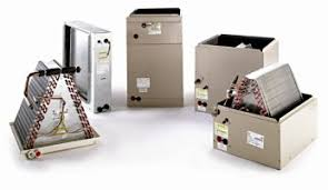 home air conditioning systems. evaporator coil - the portion of a heat pump or central air conditioning system that is located in home and functions as transfer point for systems