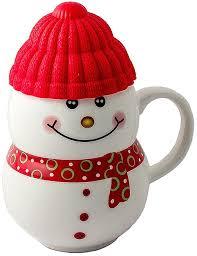 """<b>Кружка</b>-<b>снеговик Эврика</b> """"Растопи лед"""", цвет: красный Керамика ..."""