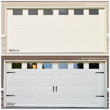 many diy home s such as lowes carry these decorative hardware straps for your garage door for about 35 they make a plain boring garage