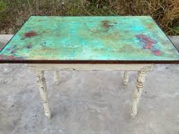 an old farm table top transformed w modern masters metal effects by peacock artistic finishes 332 best annie sloan chalk paint