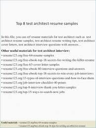 32 Free Example Resume For Architect Architecture Resume Examples