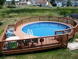 above ground pools with decks.  With Best Above Ground Pools With Decks Design Ideas On With
