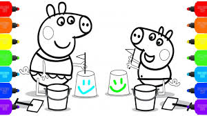 Peppa Pig Baby Coloring Pages How To Color Draw Peppa Pig