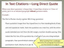 Mla Quote Citation