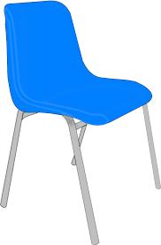 blue school chair. Classroom Blue Chair School Y