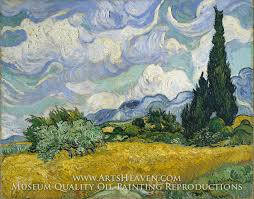 wheatfield with cypresses by van gogh an oil painting reion of vincent