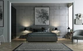 BedroomGrey Bedding Ideas Abstract Art Painting With Wooden Vinyl - Grey carpet bedroom