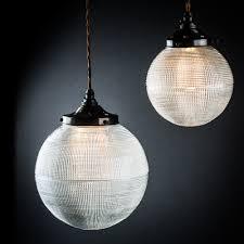 glass globe pendant lighting. Vintage Holophane Glass Globe Pendant Lighting