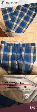 Moods Of Norway Blue Plaid Checkered Suit Pants In Excellent