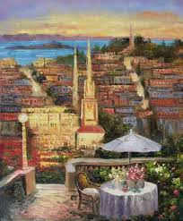 italian cafe paintings and beautiful european bars bistros and restaurant oil