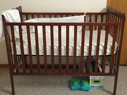 graco crib with changing table dark cherry wood color
