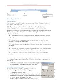 type of tab ms word 2007 practical notes