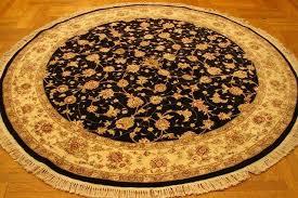 details about tabriz 84 x 84 in handmade rugs 7 x 7 black wool silk round rug