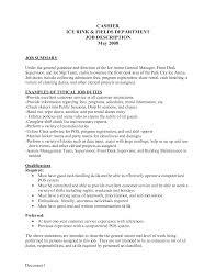 Cashier Job Duties For Resume Resume For Your Job Application