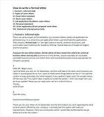 Printable Sample Proper Business Letter Format Form Examples