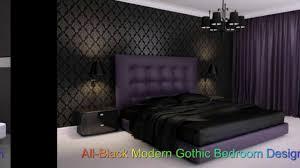 Modern Gothic Bedroom All Black Modern Gothic Bedroom Design Youtube