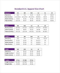 Measurement Chart 11 Examples In Pdf