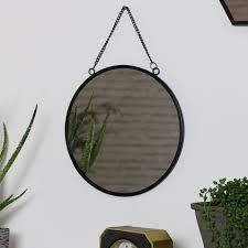 round black wall mirror windsor browne