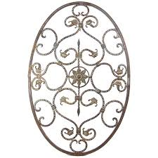antique bronze metal oval with scrolls wall decor on antique bronze metal wall art with antique bronze metal oval with scrolls wall decor master bedroom