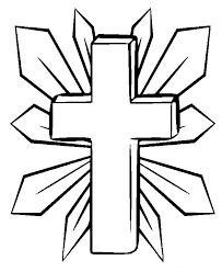 Another page has it held upright by a rose and flanked by doves. Cross Coloring Pages The Sun Flower Pages