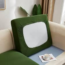 plain color stretch sofa seat cushion