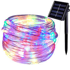 Amazon Solar Outdoor String Lights Semilits Solar Outdoor String Lights 100led 33ft Copper Fairy String Lights Waterproof Led Rope Lights For Patio Easter Christmas Party