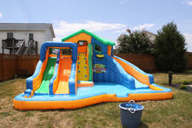 inflatable garden furniture. Innovative Inflatable Water Slide Garden Furniture